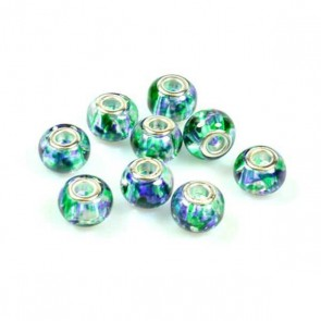 Multicolor Charm Bead Green/Blue