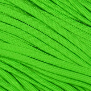Neon Green Coreless Paracord - 100 ft