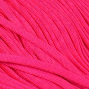 Neon Pink Coreless Paracord - 100 ft