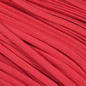 Scarlet Red Coreless Paracord - 100 ft
