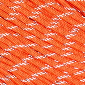 Neon Orange Reflective 550 Paracord - 100 ft