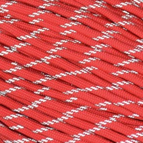 Imperial Red Reflective 550 Paracord - 100 ft