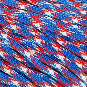 Red White and Blue Camo 550 Paracord - 250 ft Spool