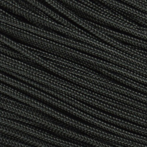 275 Paracord Black w// Silver Diamonds 100 FT USA MADE /& SELLER same day shipping