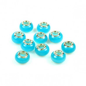 Sky Blue Cat's Eye Charm Bead