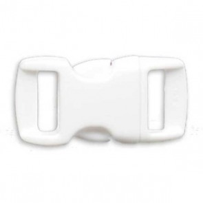 "3/8"" Side Release Buckle - White"