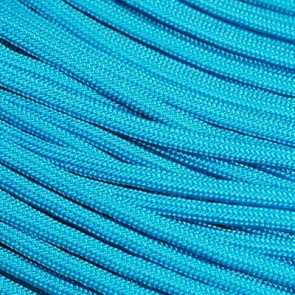 Neon Turquoise Coreless Paracord - 500 ft Spool