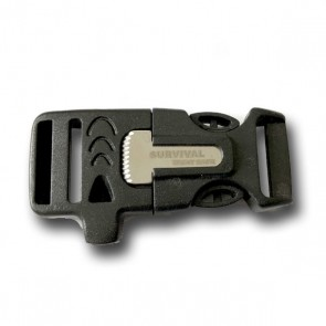 "3/4"" Side Release Whistle Buckle w/ Fire Starter"